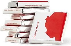 Шоколад Julius Meinl в индивидуальной упаковке 200шт х 5г
