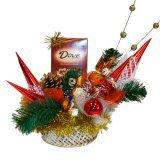 Сладкий новогодний подарок Сладкие букеты