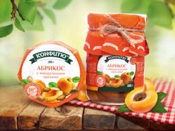 a2104z Варенье абрикос с миндальными орехами, 300г