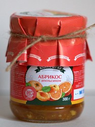 a2103z Варенье из абрикоса с апельсином, 300г