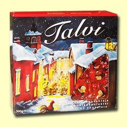 Talvi. Рождественские шоколадные конфеты с мягкой орехово-шоколадной начинкой