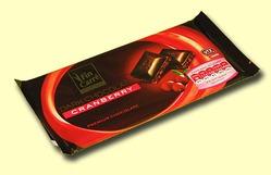 Fin Carre Premium Chocolate. Темный шоколад с клюквой